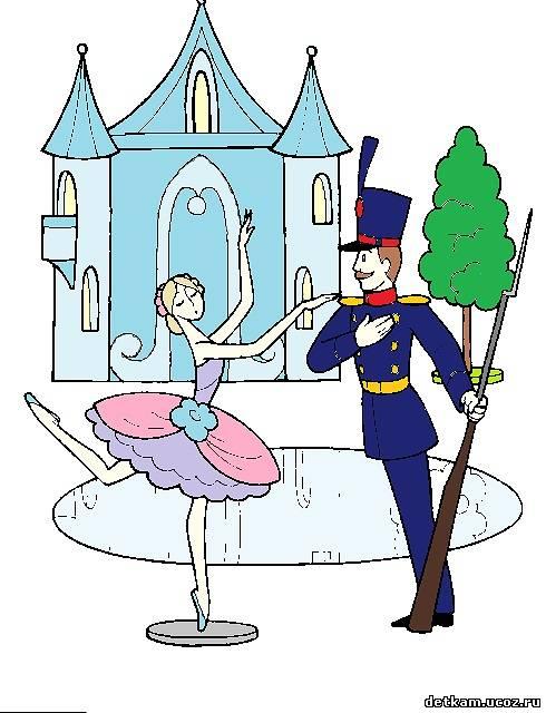 Раскраска солдатик и танцовщица   раскраски каталог раскрасок.